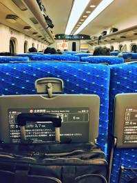 Aboard the Shinkansen High-Speed Train