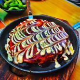 Osaka's signature dish, Okonomiyaki!